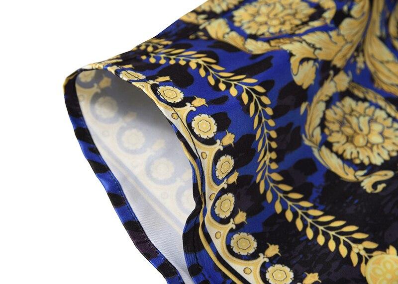 Royles! Men's Leopard styled Floral Long Sleeve Shirt 11