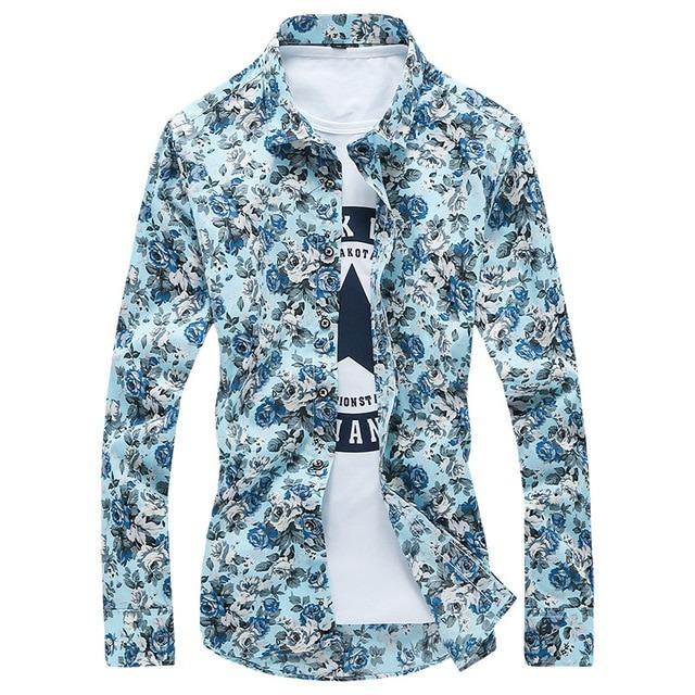 Royles! Men's Standard-Fit Long-Sleeve Printed Shirt 1