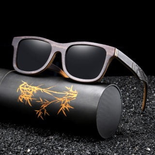 GM Luxury Skateboard Wood Sunglasses Vintage Black Frame Wooden Sunglasses Women Polarized Men's Bamboo Wood Sunglasses S5832 3