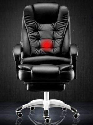 Reclining massage foot rest seat
