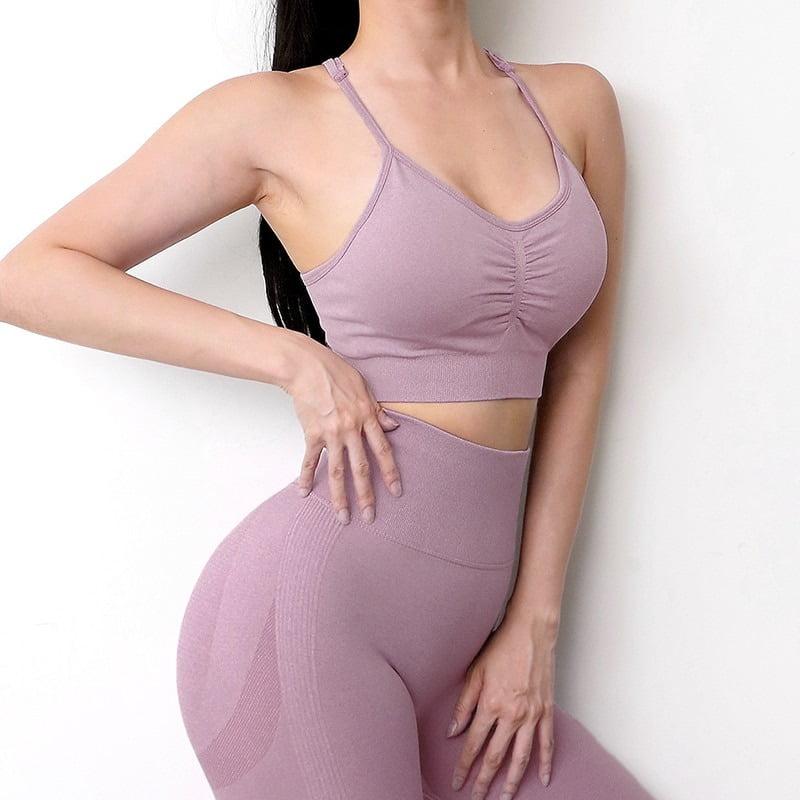 Royles! Women 2 Piece Workout Outfits Sports Bra Seamless Leggings Yoga Gym Activewear Set 3