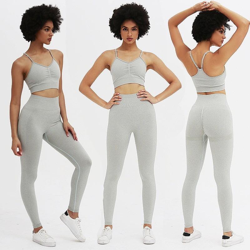 Royles! Women 2 Piece Workout Outfits Sports Bra Seamless Leggings Yoga Gym Activewear Set 20