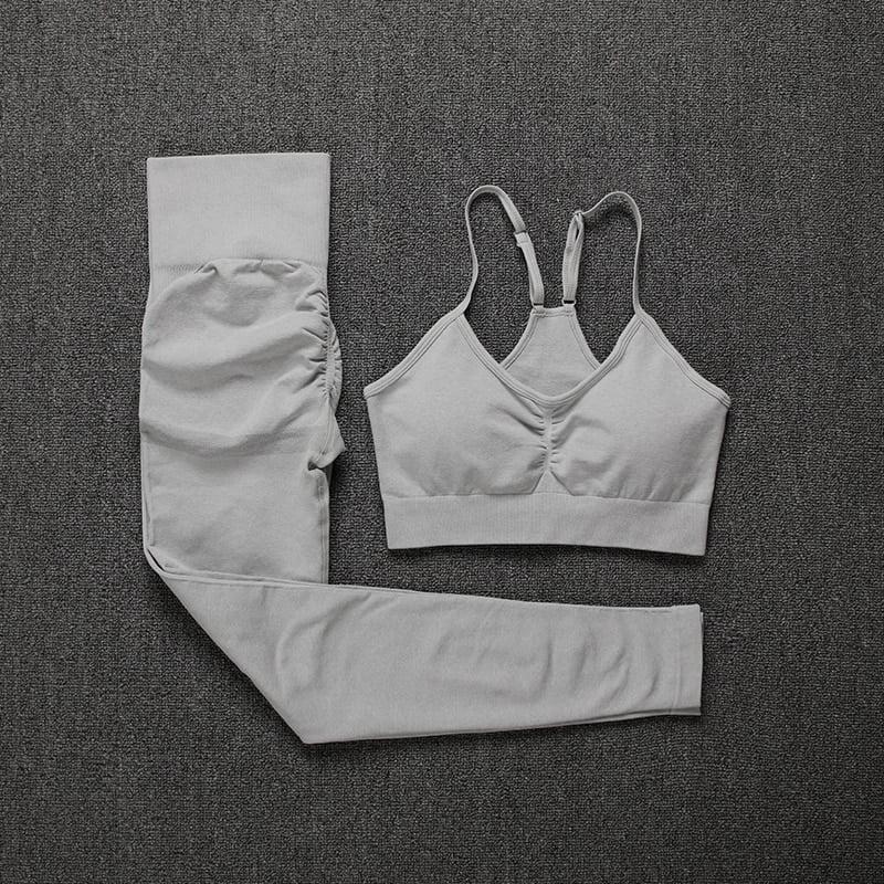 Royles! Women 2 Piece Workout Outfits Sports Bra Seamless Leggings Yoga Gym Activewear Set 31