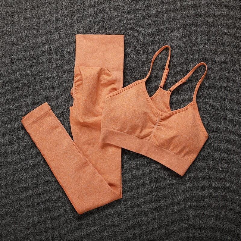 Royles! Women 2 Piece Workout Outfits Sports Bra Seamless Leggings Yoga Gym Activewear Set 2