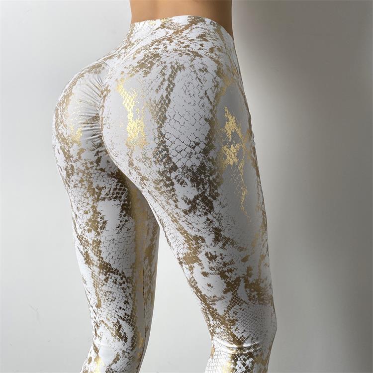 Women Serpentine High Waist Yoga Pants Leggings 1