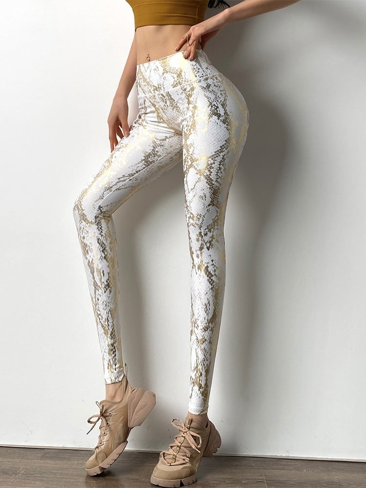 Women Serpentine High Waist Yoga Pants Leggings 2