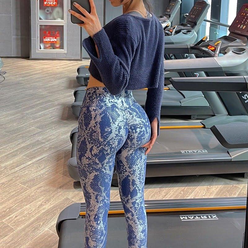 Women Serpentine High Waist Yoga Pants Leggings 6