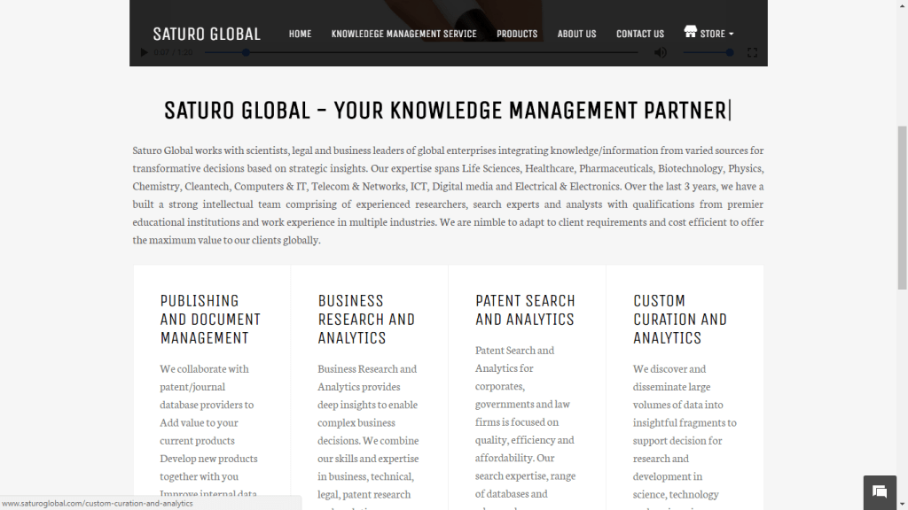 Platform to purchase and manage knowledge management services