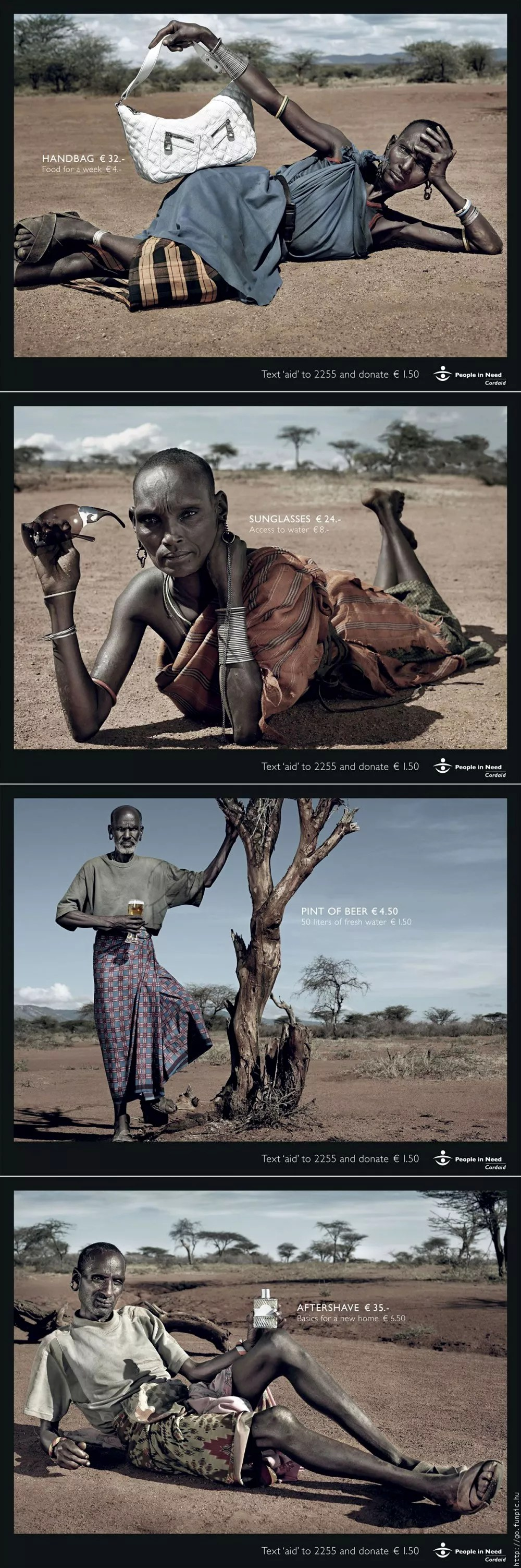 Series of ads for Cordaid by Saatchi & Saatchi