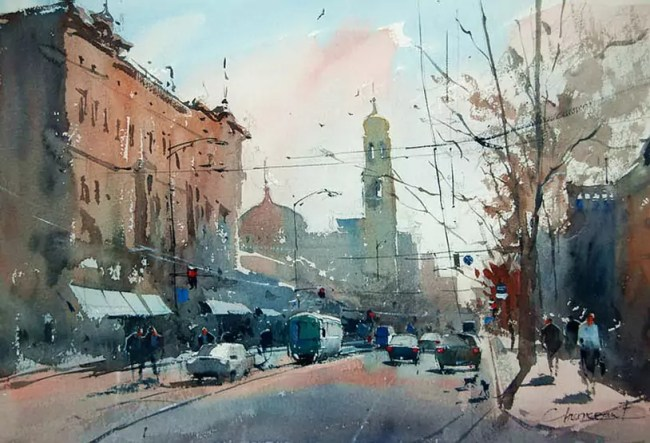 Eugen Chisnicean Watercolors