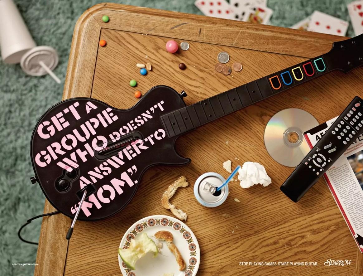 Sparrow Guitars Print Ad Campaign