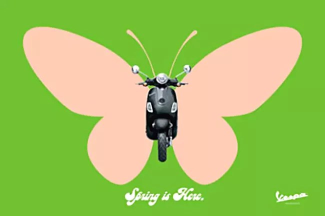 Vespa Butterfly — Print work from Dentsu, Toronto.