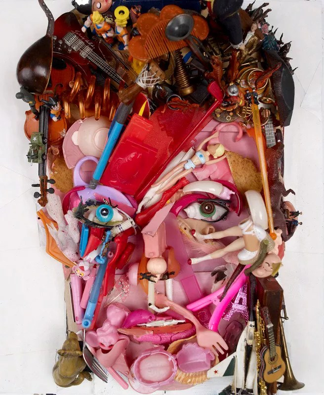 Incredible portraits made from trash