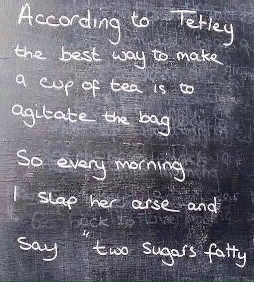 Advice from Tetley tea