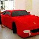 Woman knits full size Ferrari for art school project