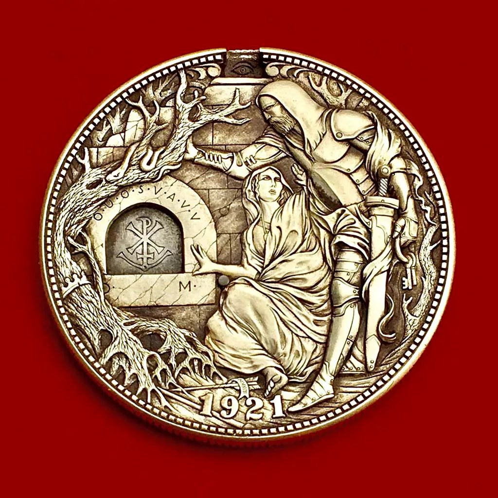 Sculpture | Hand Engraved Coins by Roman Booteen