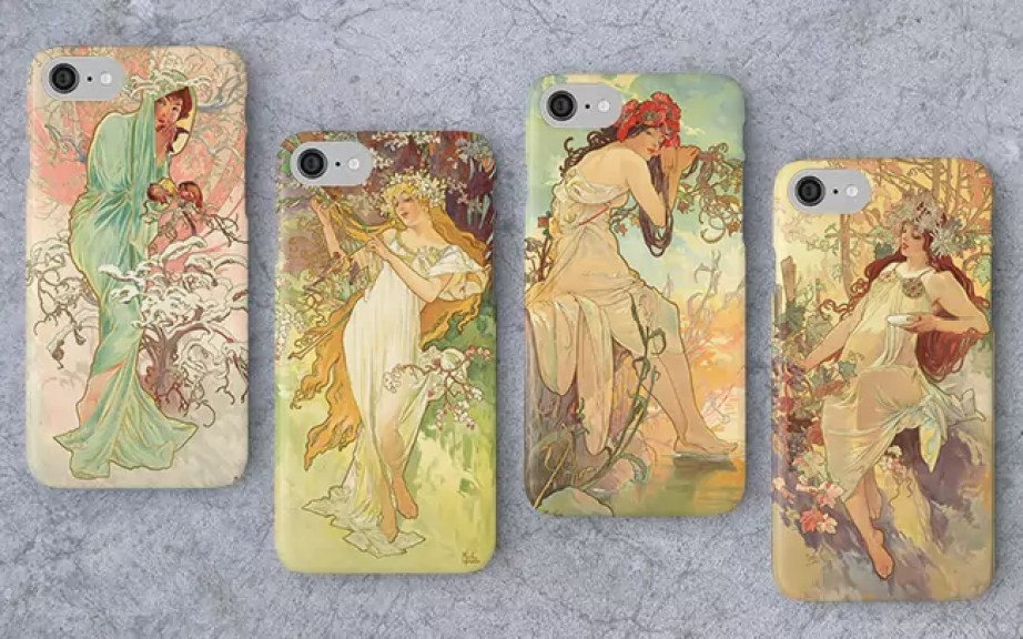 The Seasons By Alfons Mucha 1896 iPhone cases