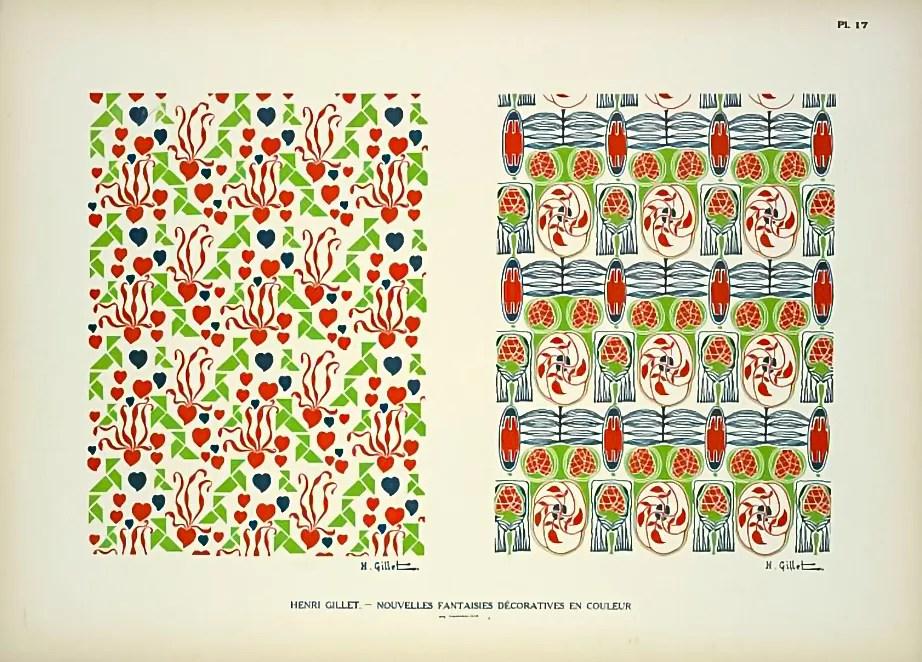 Plate 17  |  Floral  |  Henri Gillet  c.1900