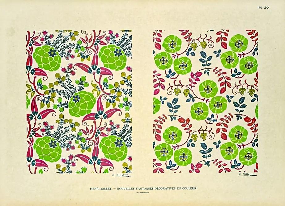 Plate 20  |  Floral  |  Henri Gillet  c.1900