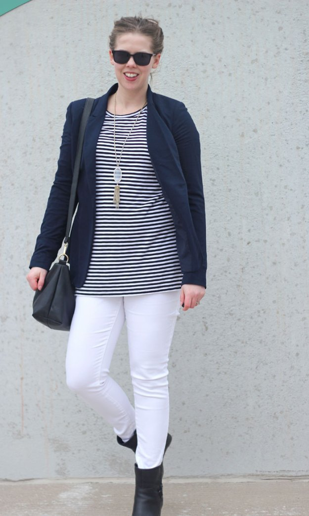 white-jeans-striped-tunic-navy-blazer
