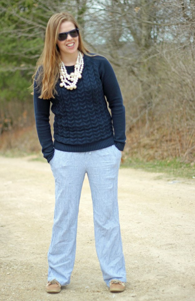blue-sweater-blue-pinstripe-pants-pearls-2