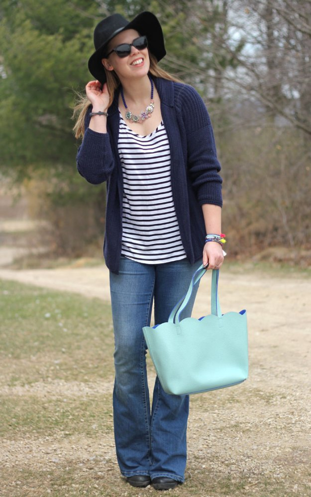 flare-jeans-striped-tank-navy-cardigan-floppy-hat-mint-tote-3