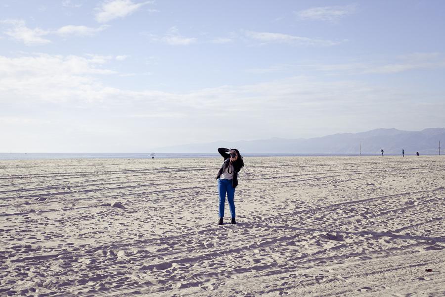Deb at Marina Del Rey beach.