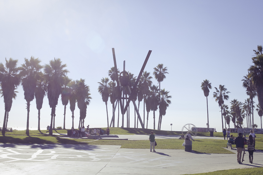 Venice Beach sculpture.