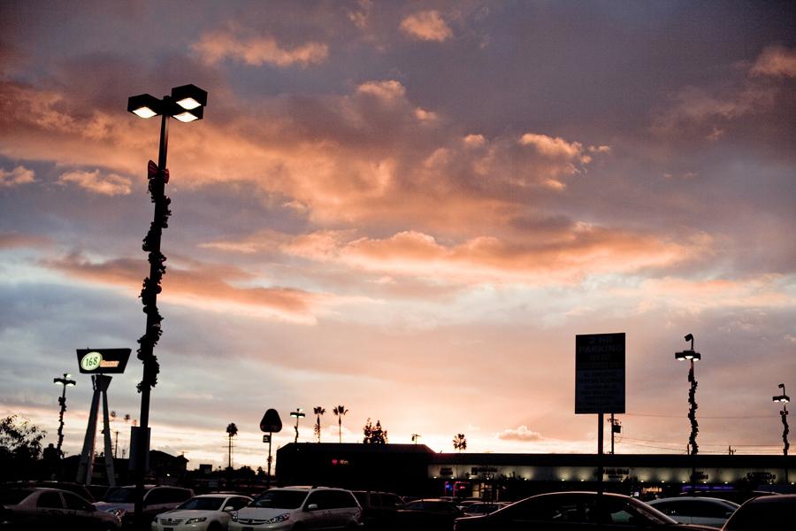 Evening sky in San Gabriel.