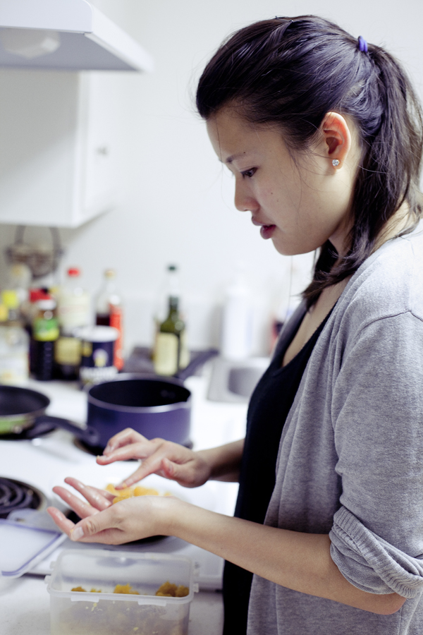 Deb making pineapple tarts for Chinese New Year.