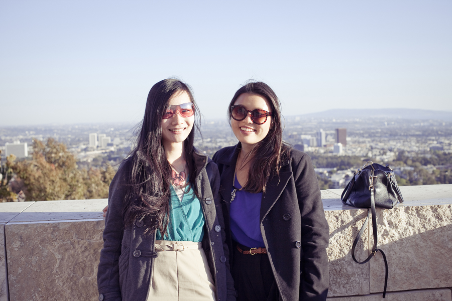 At the Getty Center with the Los Angeles landscape behind us.
