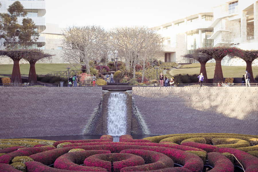 Garden at the Getty Center, Los Angeles.