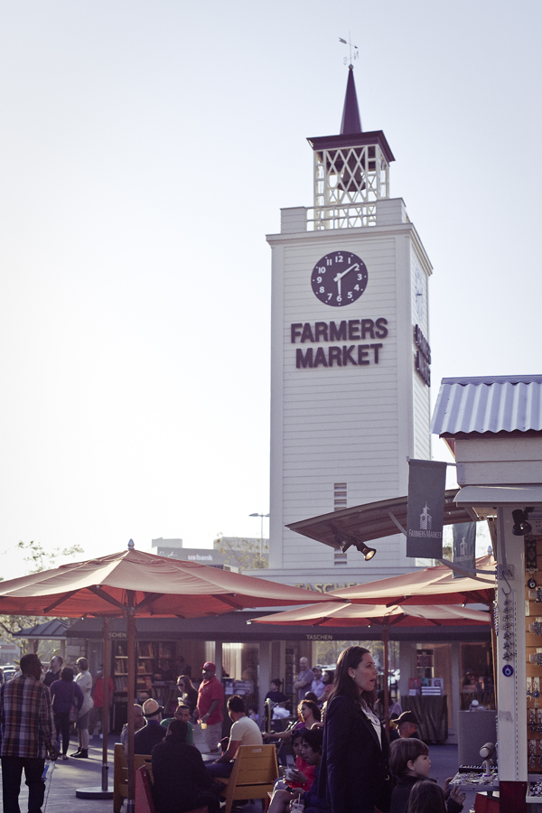 Farmers Market tower at The Grove in Los Angeles.