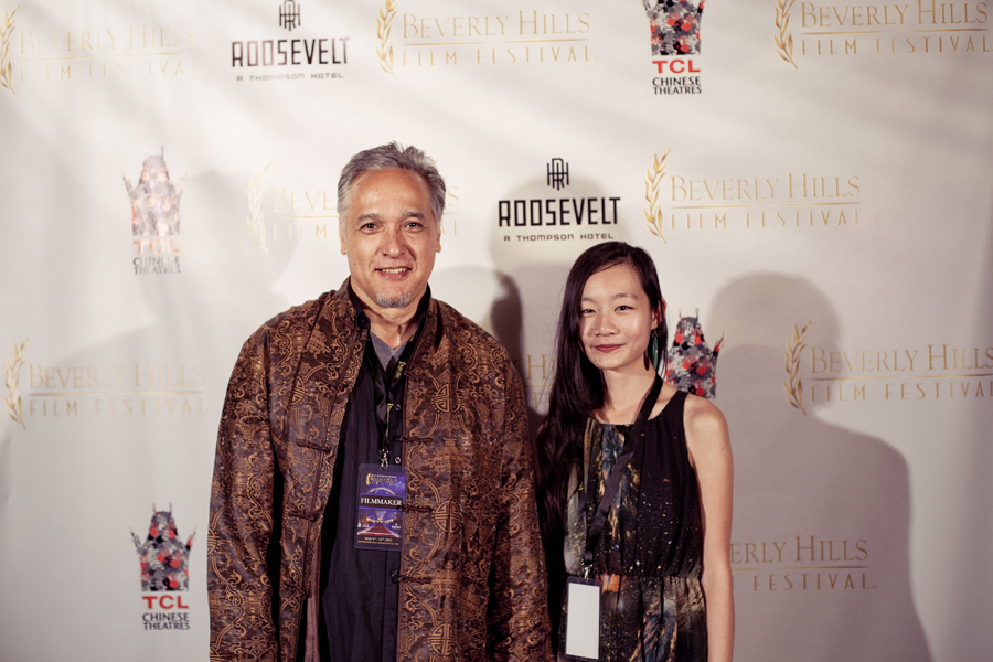 MC and Ren at the Beverly Hills Film Festival in Grauman Chinese Theater, Los Angeles, California.