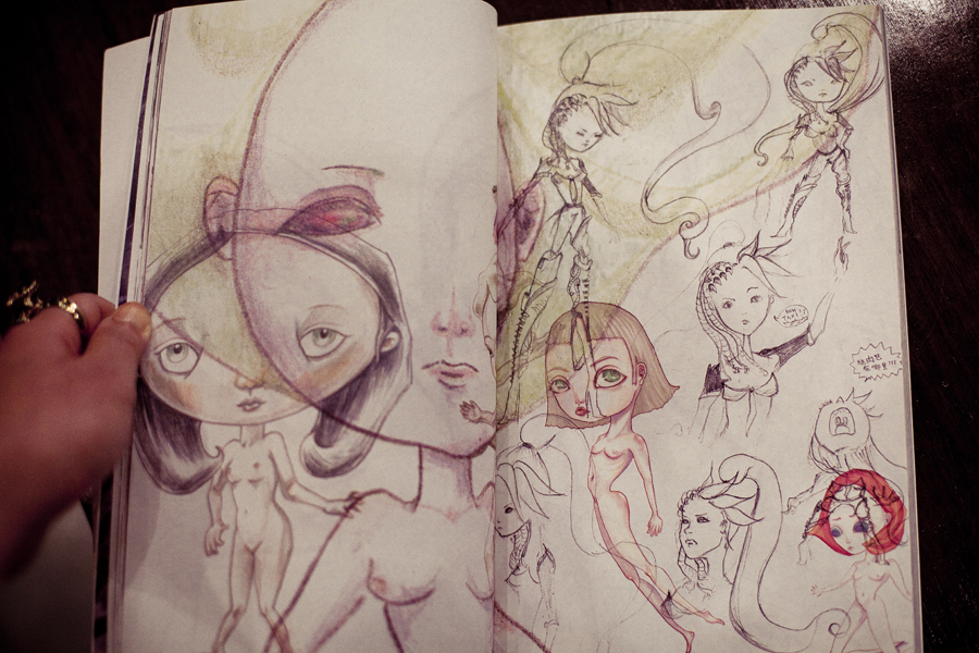 My character sketches for a workstudy printed in a book for MC's research animation, [Vengeance + Vengeance].