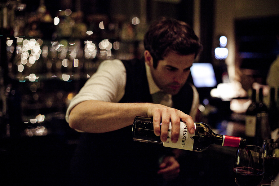 Bartender at the Four Seasons Hotel.
