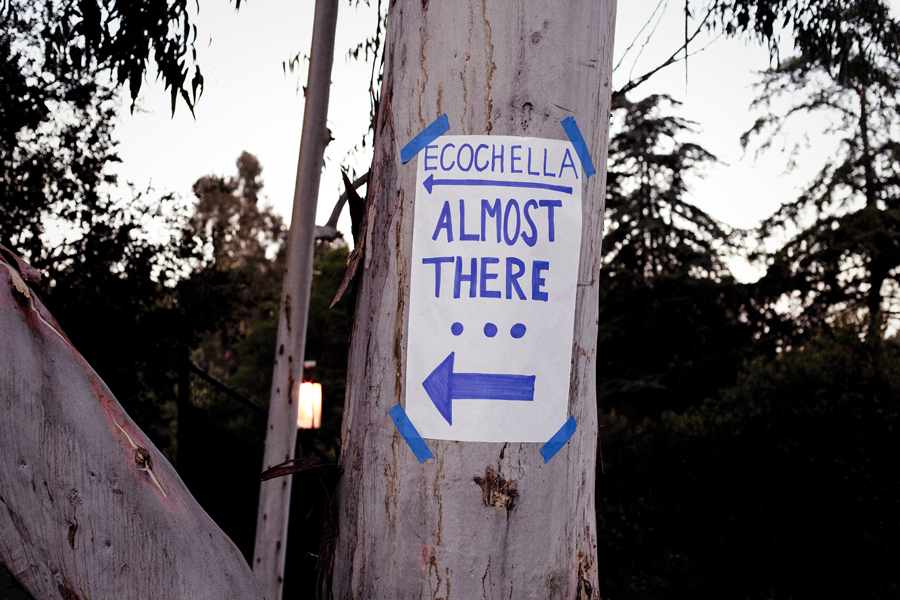 Sign for Ecochella at UCLA.