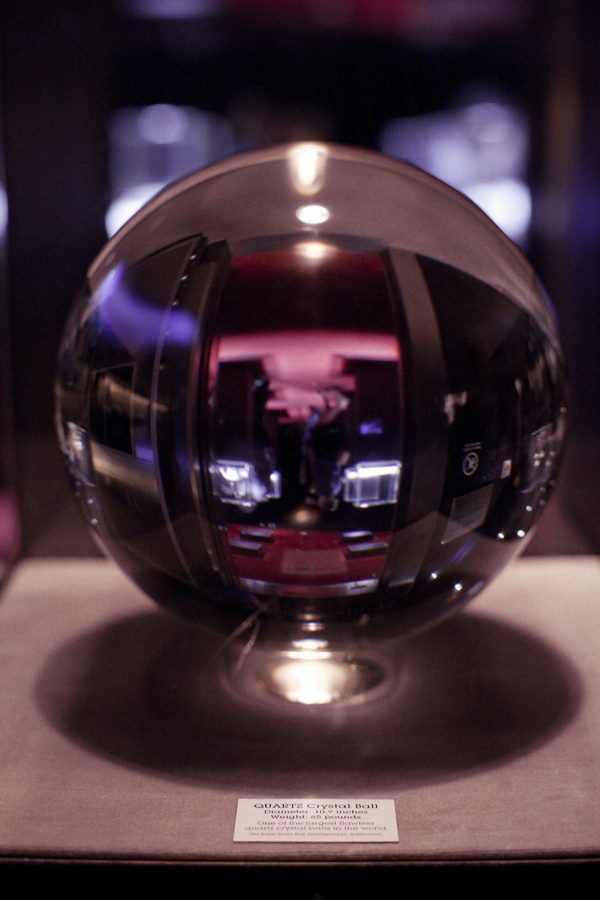 Quartz Crystal Ball at the Natural History Museum in Los Angeles.