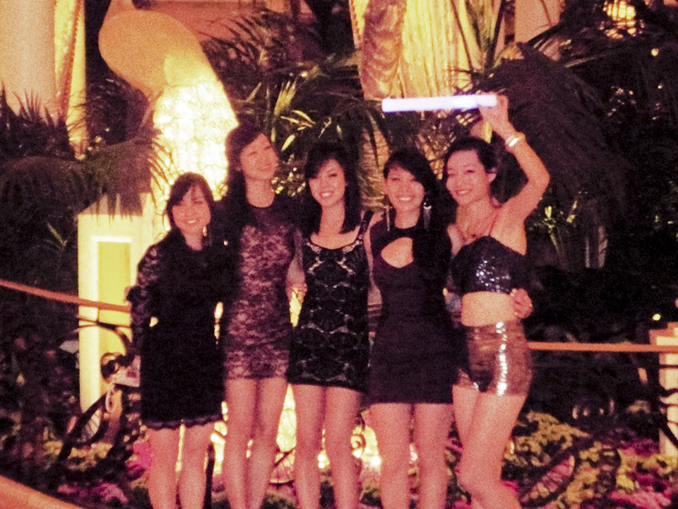 Small group photo after a night at Surrender nightclub in Las Vegas.