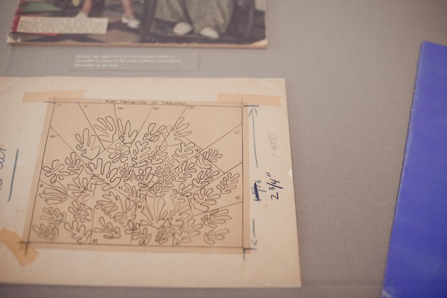 Pencil render of Henri Matisse: La Gerbe at LACMA.
