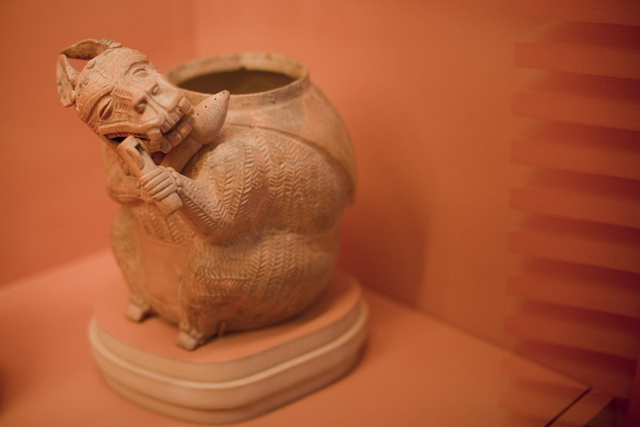 Jar on display at the Art of the Ancient Americas exhibit at LACMA, Los Angeles.