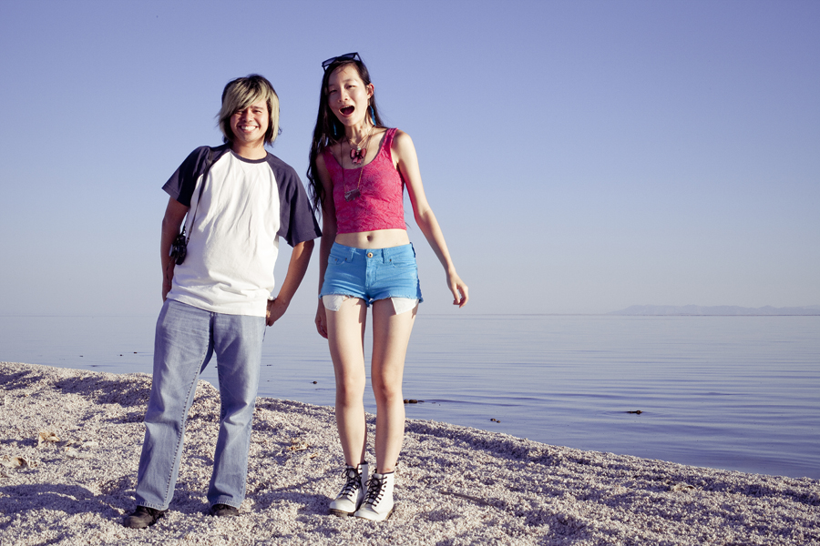 Shamis and Ren at the Salton Sea.