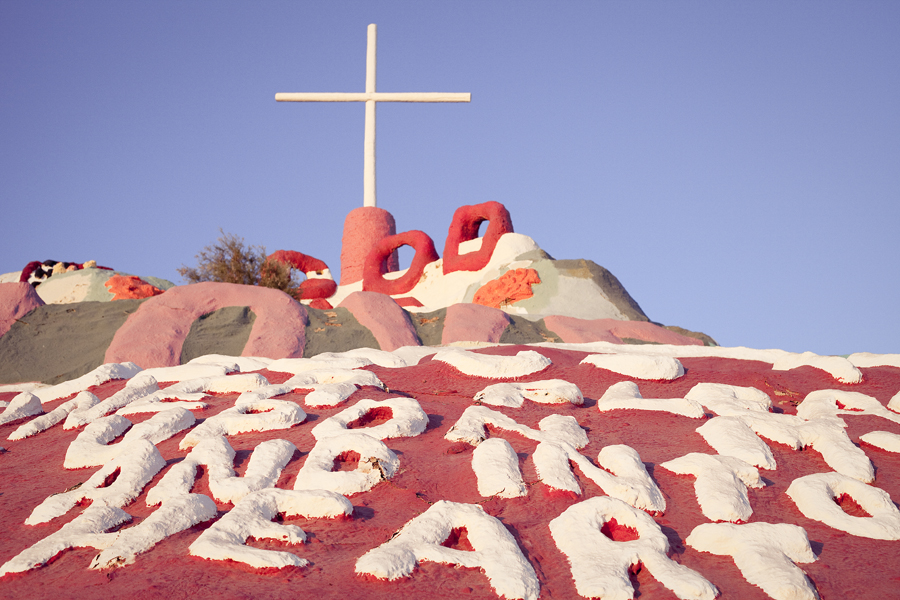 Salvation Mountain.