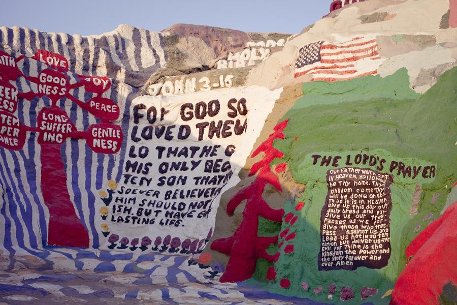 Salvation Mountain.