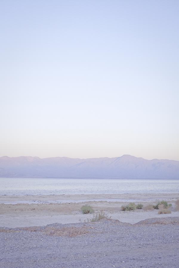 Sunrise at the Salton Sea.