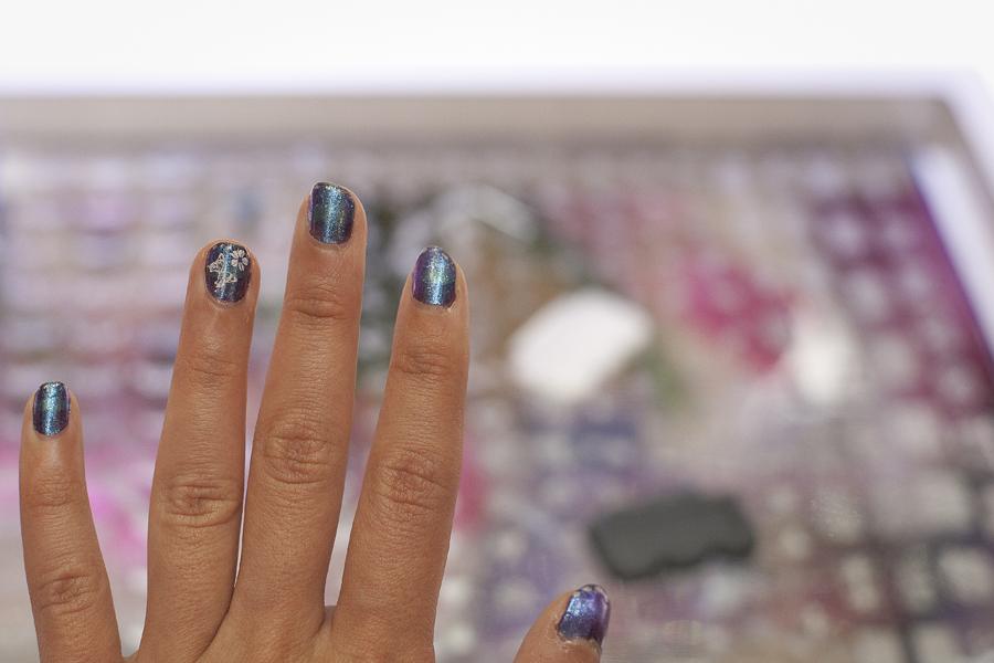 My painted nail sample in Las Vegas.