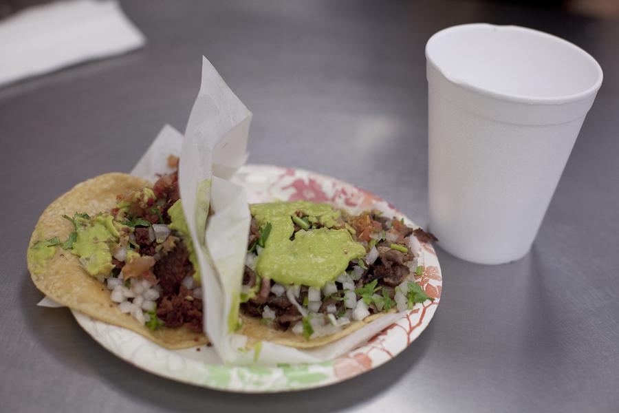 Tacos at Tacos el Gordo in Las Vegas.