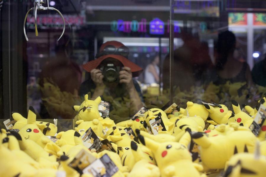 UFO catcher of Pikachus at Circus Circus in Las Vegas.
