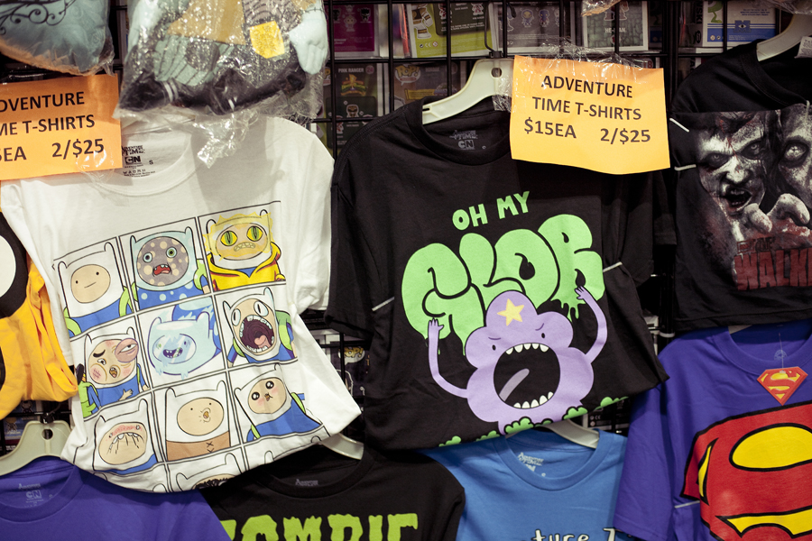 Adventure Time t-shirts at Anime Expo 2013.
