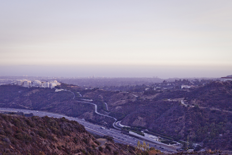 View of Los Angeles and the Getty Center from atop the Getty View Trailhead.